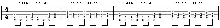 tablature rythmique