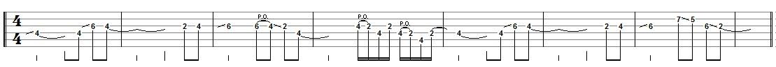 tablature thème 2
