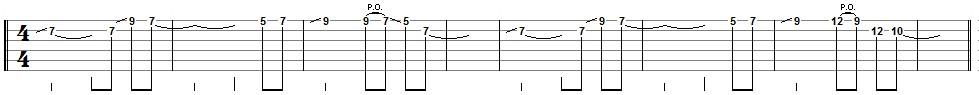 tablature thème 1