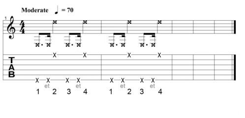 rythme guitare percussive 1