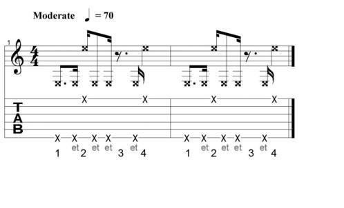 rythme guitare percussive 2
